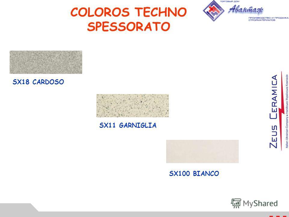 COLOROS TECHNO SPESSORATO SX18 CARDOSO SX11 GARNIGLIA SX100 BIANCO