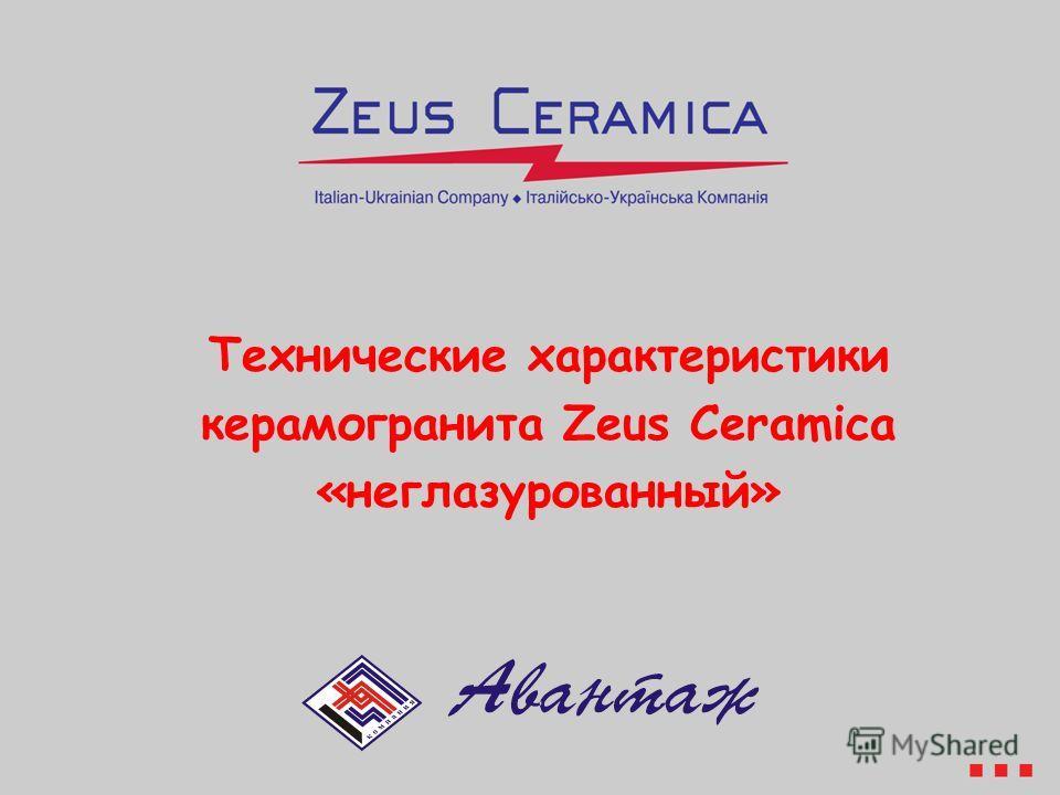 Технические характеристики керамогранита Zeus Ceramica «неглазурованный»