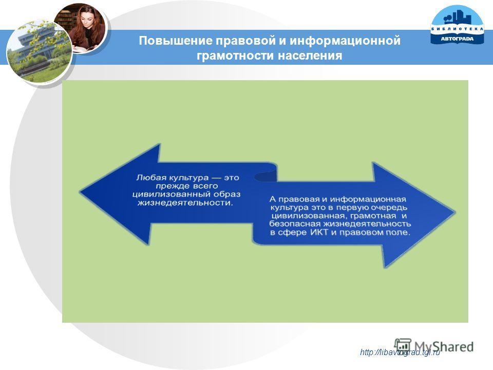 Повышение правовой и информационной грамотности населения http://libavtograd.tgl.ru