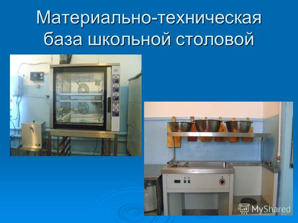Материально-техническая база школьной столовой