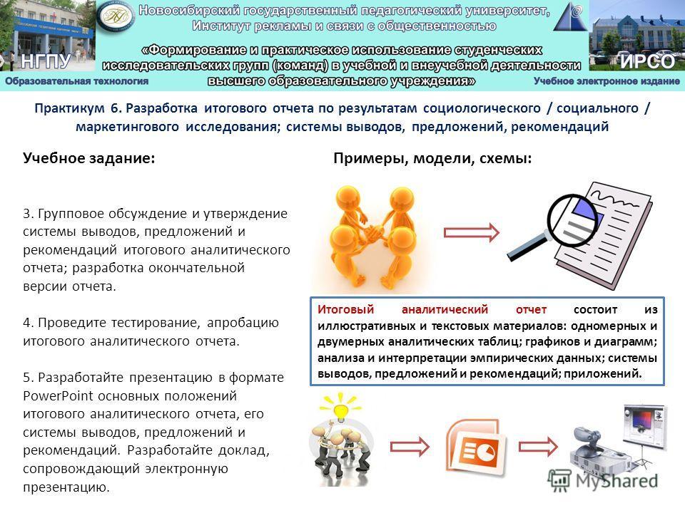 Примеры, модели, схемы: 3.