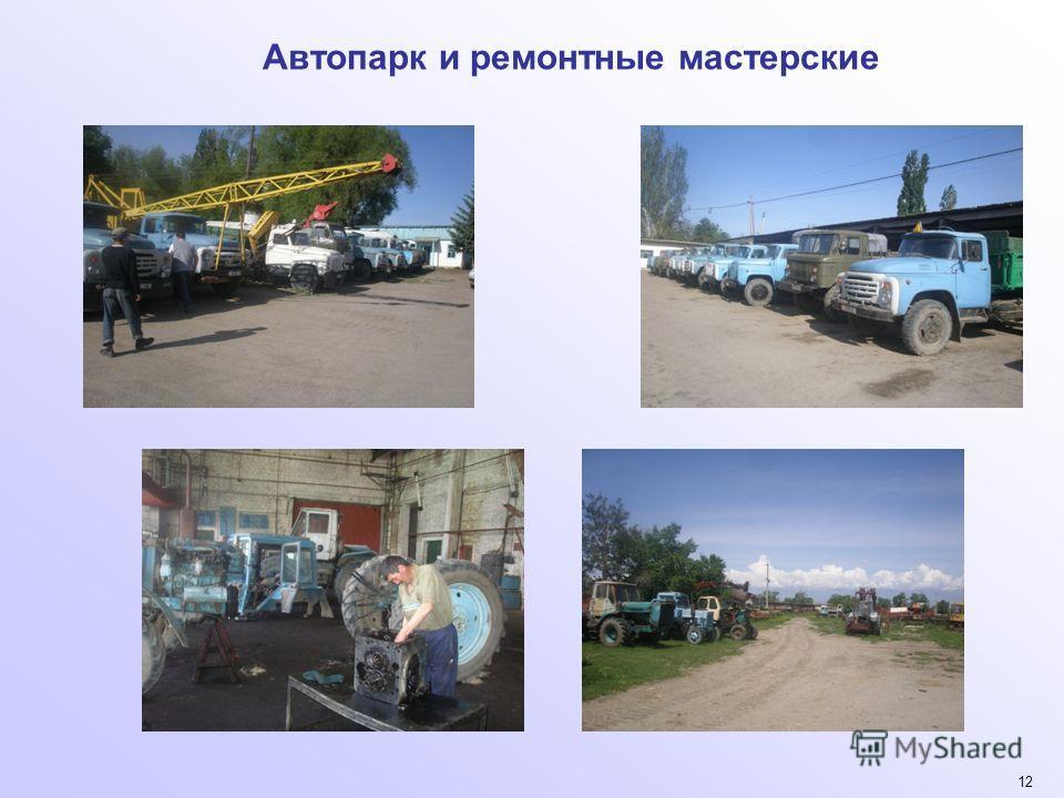 12 Автопарк и ремонтные мастерские