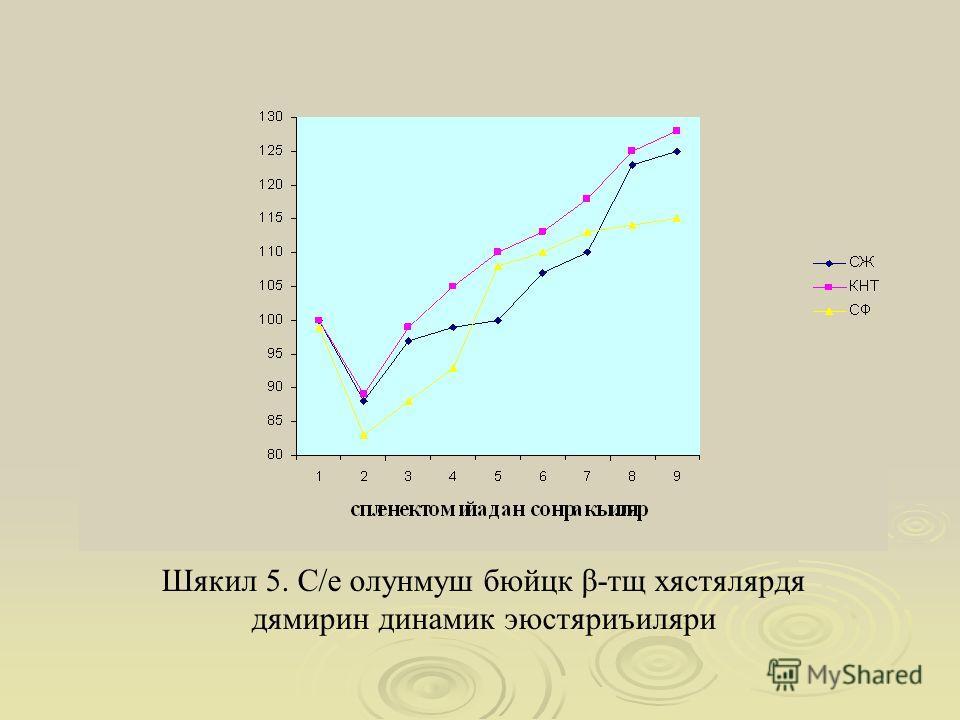 Шякил 5. С/е олунмуш бюйцк β-тщ хястялярдя дямирин динамик эюстяриъиляри