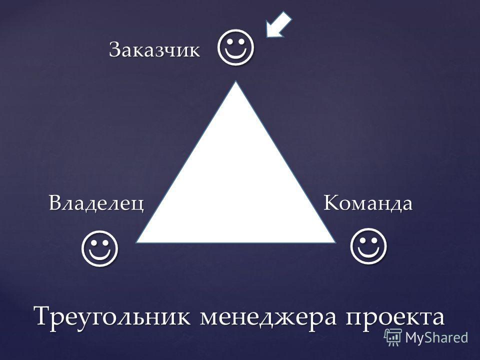 Заказчик Команда Владелец