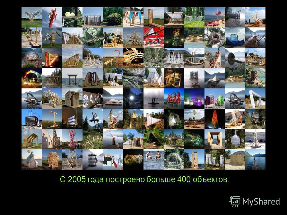 С 2005 года построено больше 400 объектов.