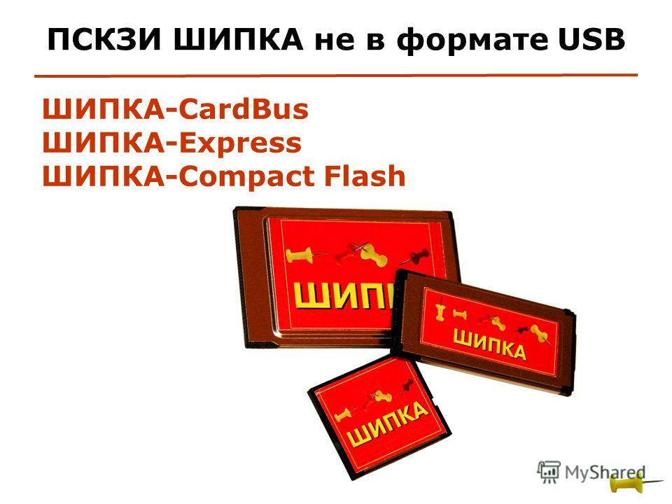 ШИПКА-CardBus ШИПКА-Express ШИПКА-Compact Flash ПСКЗИ ШИПКА не в формате USB