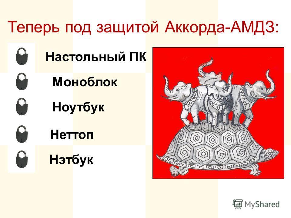 Настольный ПК Моноблок Неттоп Ноутбук Нэтбук Теперь под защитой Аккорда-АМДЗ: