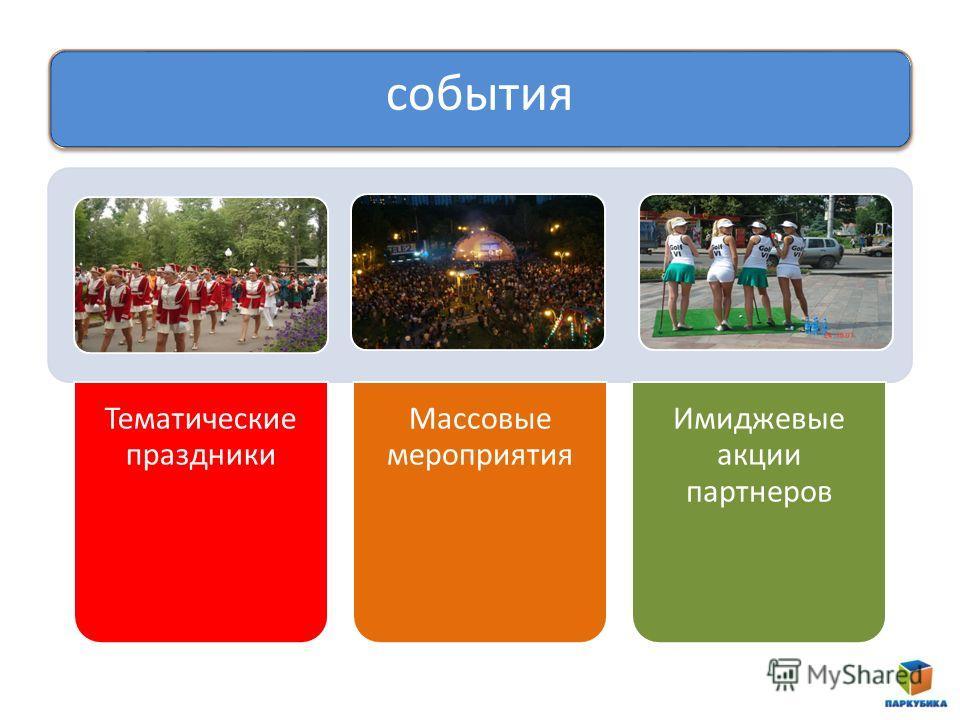 события Тематические праздники Массовые мероприятия Имиджевые акции партнеров