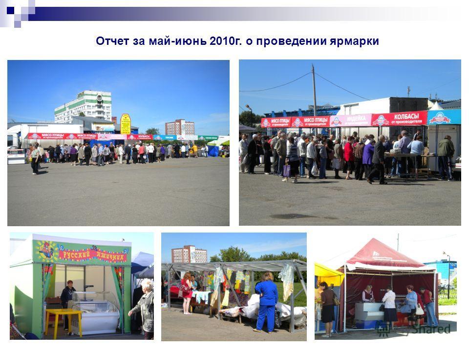 Отчет за май-июнь 2010г. о проведении ярмарки