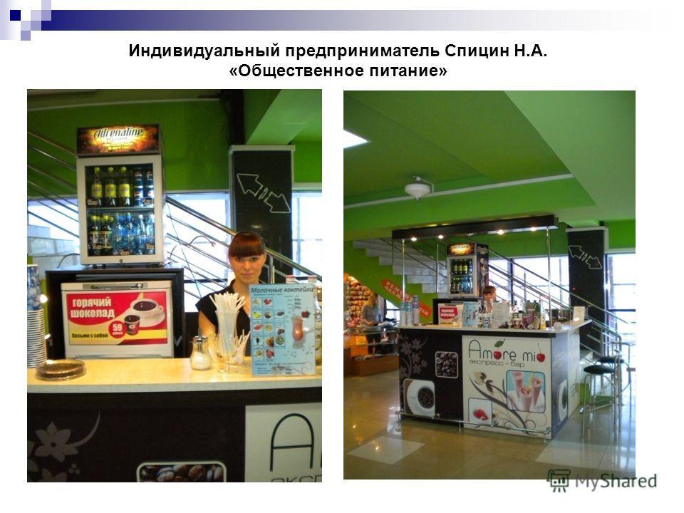 Индивидуальный предприниматель Спицин Н.А. «Общественное питание»