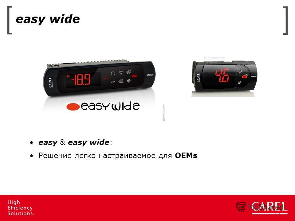 easy wide easy & easy wide: Решение легко настраиваемое для OEMs