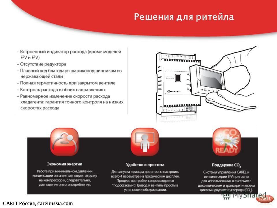 CAREL Россия, carelrussia.com Решения для ритейла