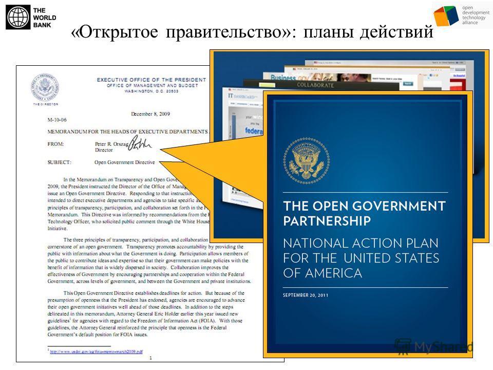 «Открытое правительство»: планы действий