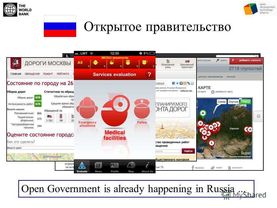 Open Government is already happening in Russia... Открытое правительство