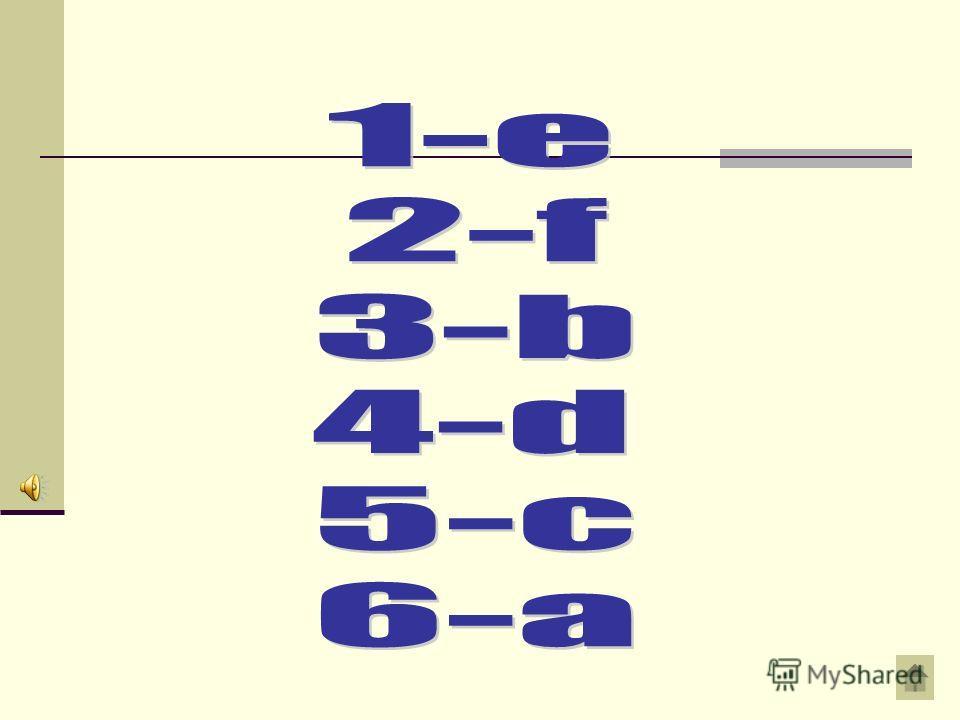 Вопрос на 100 рублей Ответ 1. мегагерца ) программирования 2. пиксельв ) размер символов 3. пунктс ) текстовый 4. алгоритм d) линейный 5. редактор e) тактовая частота процессора 6. язык f) расширение монитора
