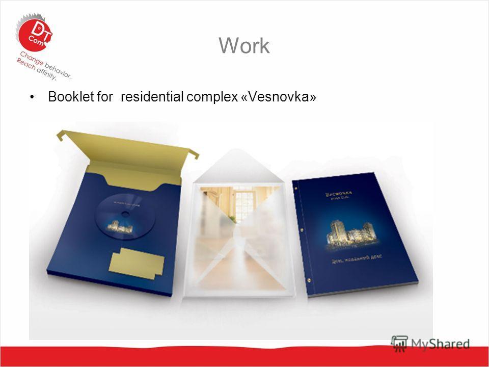 Work Booklet for residential complex «Vesnovka»