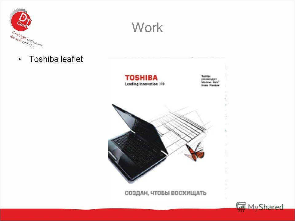 Work Toshiba leaflet