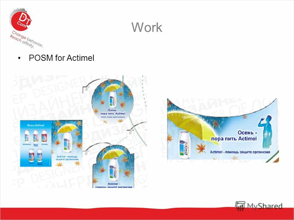 Work POSM for Actimel