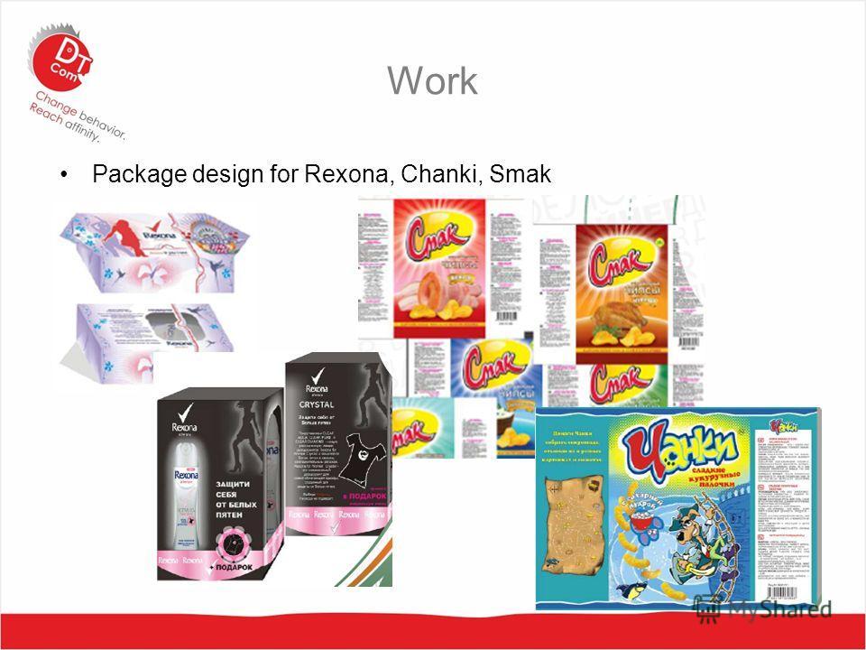 Work Package design for Rexona, Chanki, Smak