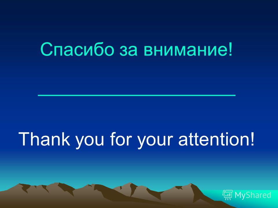Спасибо за внимание! ___________________ Thank you for your attention!