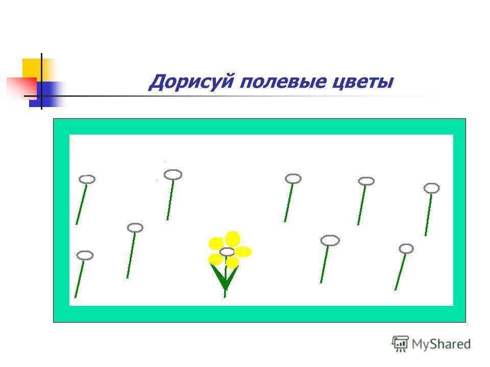 Дорисуй полевые цветы