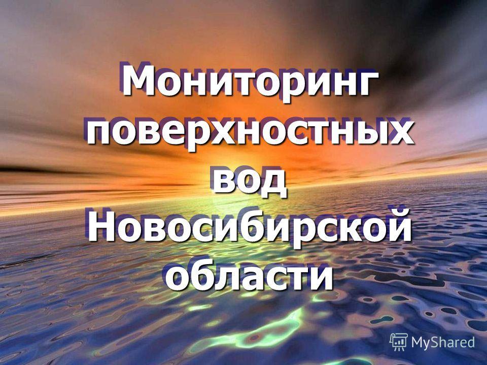 Мониторинг поверхностных вод Новосибирской области