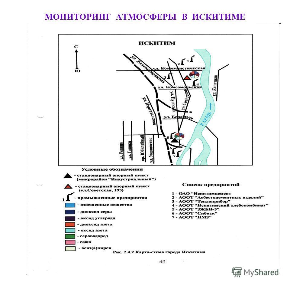 МОНИТОРИНГ АТМОСФЕРЫ В ИСКИТИМЕ