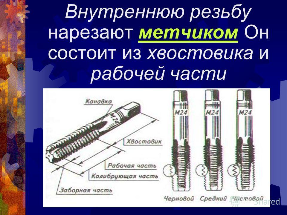 Вращают плашкодержатель следующим образом: один-два оборота по часовой стрелке и пол-оборота в обратном направлении для ломания стружки