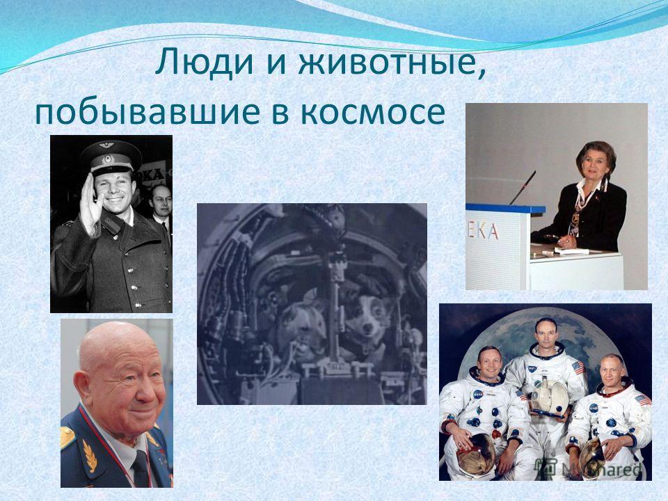 Люди и животные, побывавшие в космосе