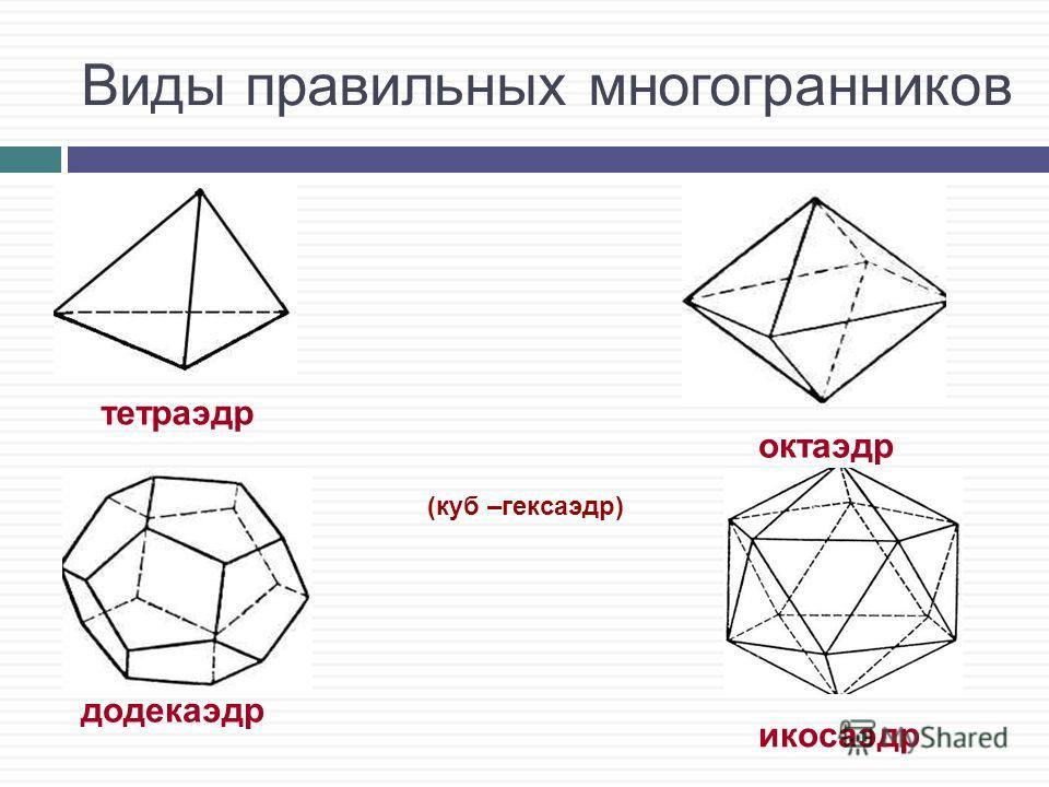 Тетраэдр Треугольную пирамиду называют тетраэдром