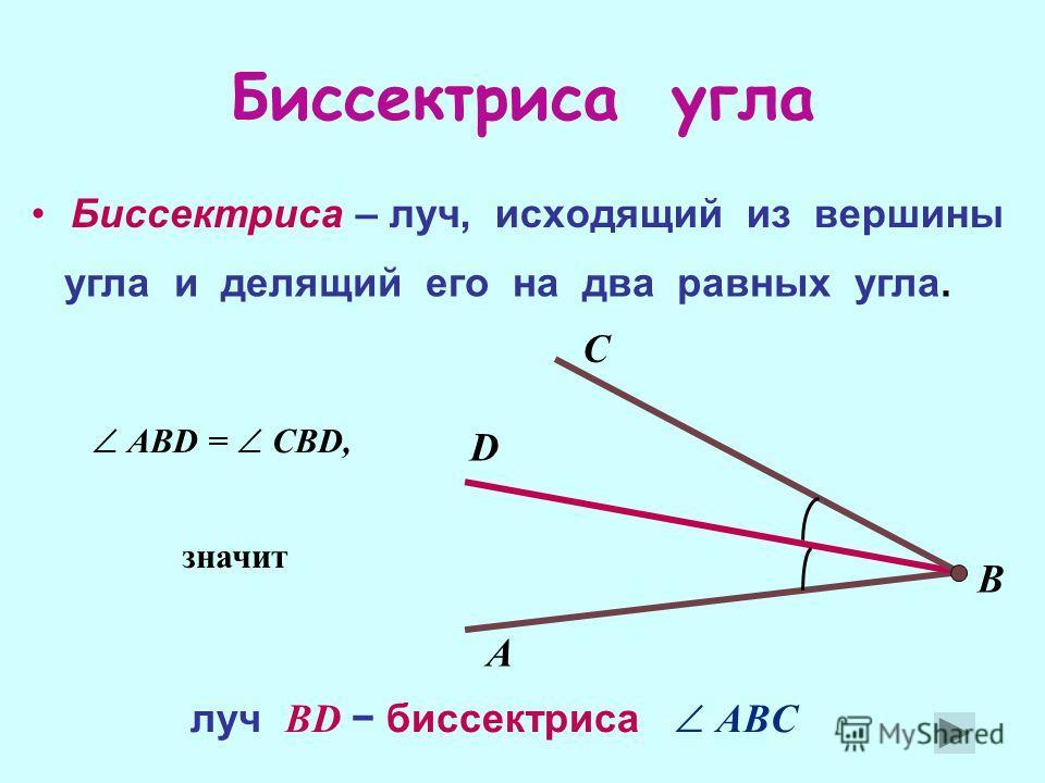 Развернутый уголПрямой угол Острый угол Тупой угол 1 1= 180° 2 2 = 90° 3 3 < 90° 4 90°< 4 < 180°