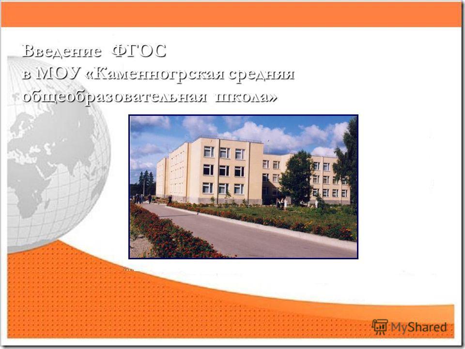 Введение ФГОС в МОУ «Каменногрская средняя общеобразовательная школа»