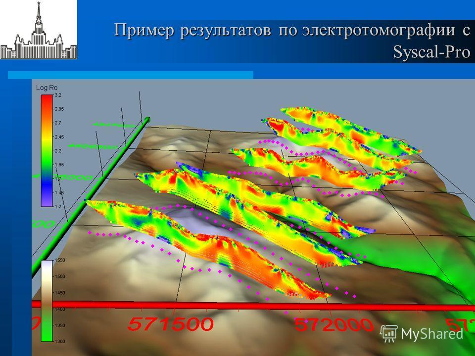 Пример результатов по электротомографии с Syscal-Pro