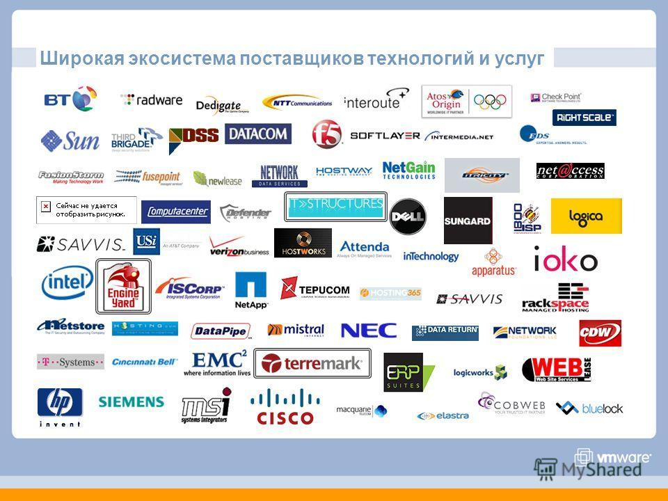 Широкая экосистема поставщиков технологий и услуг
