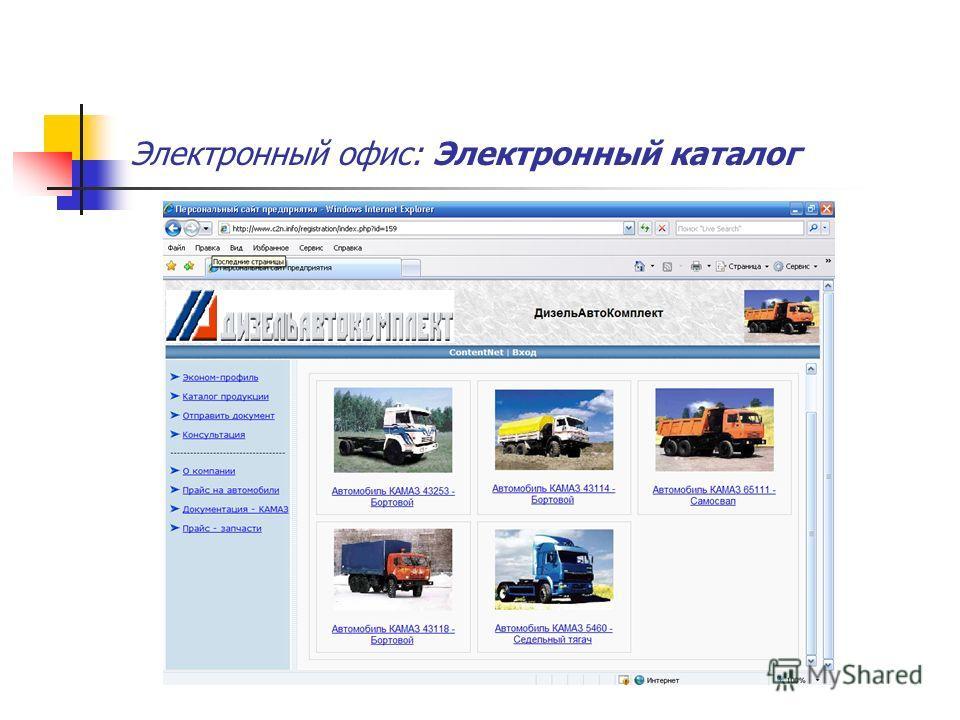 Электронный офис: Электронный каталог