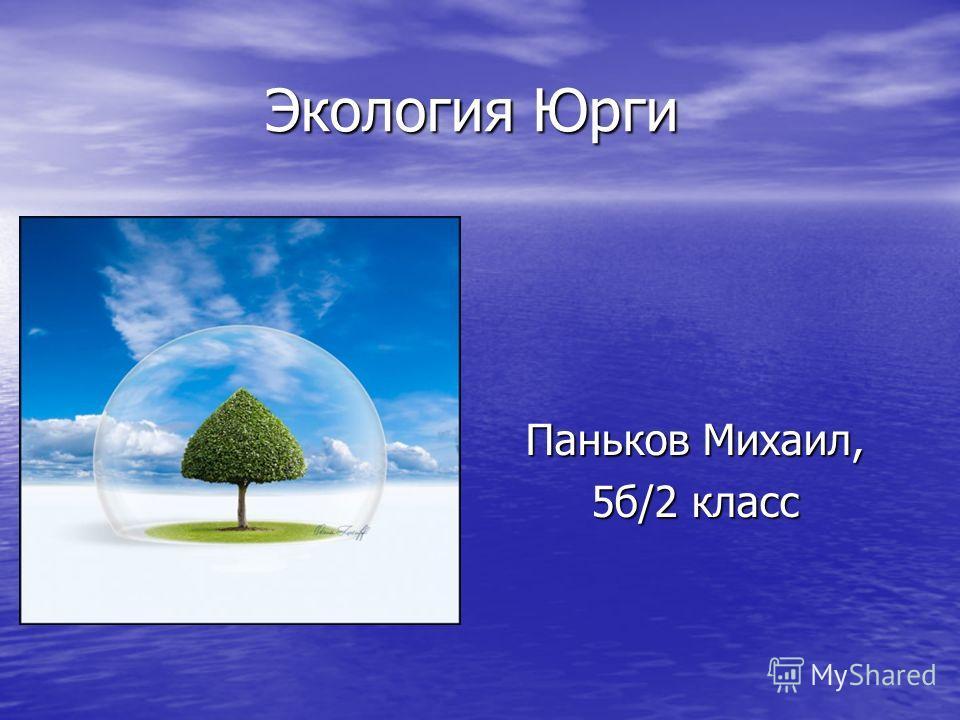 Экология Юрги Паньков Михаил, 5б/2 класс