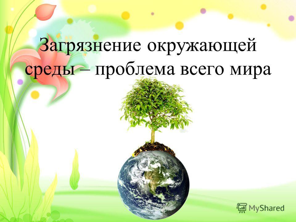 Загрязнение окружающей среды – проблема всего мира