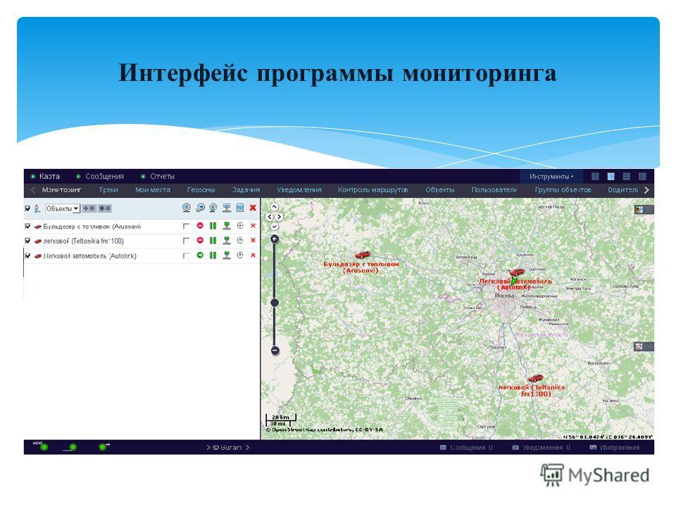 Интерфейс программы мониторинга