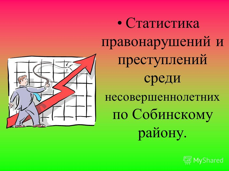 Статистика правонарушений и преступлений среди несовершеннолетних по Собинскому району.