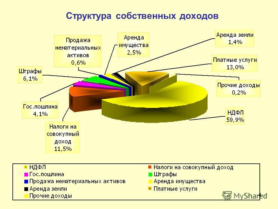 4 Структура собственных доходов
