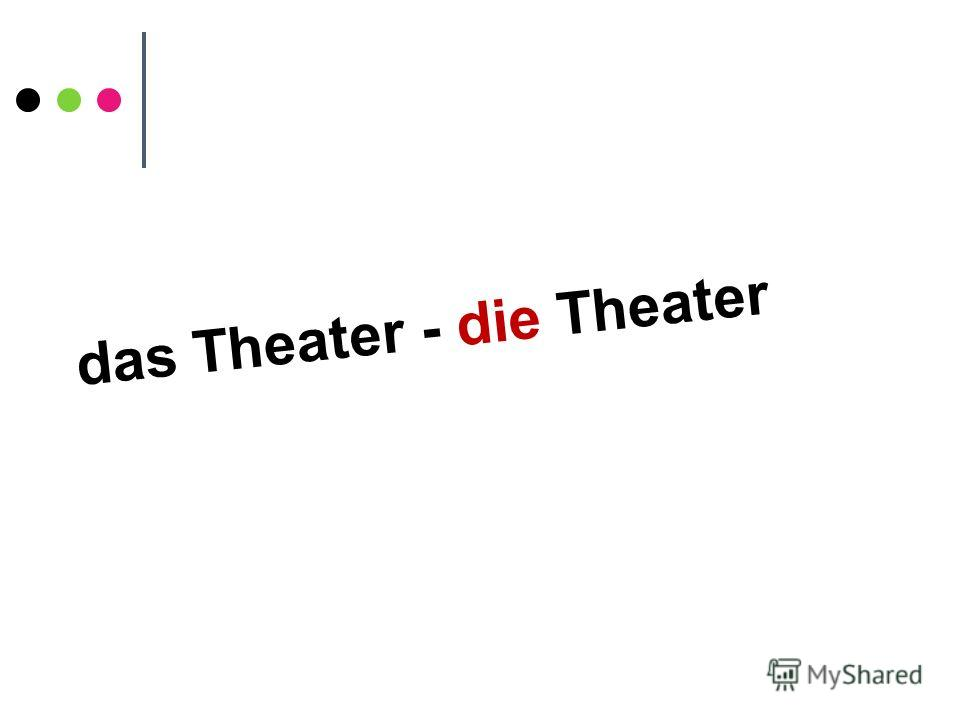 das Theater - die Theater