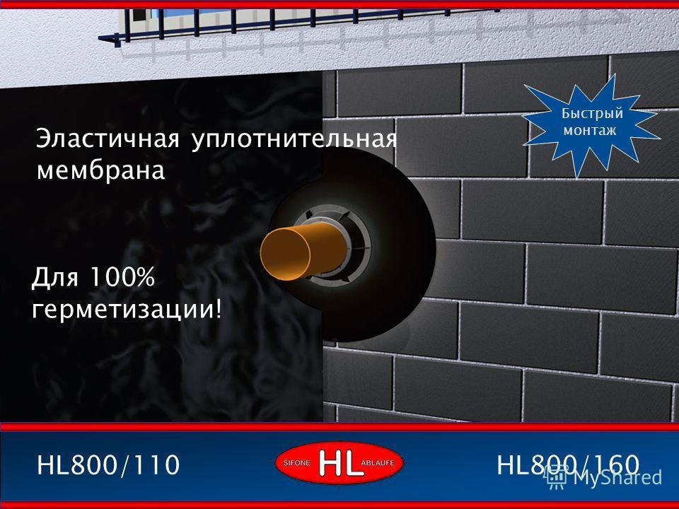 Эластичная уплотнительная мембрана Для 100% герметизации! HL800/160HL800/110 Быстрый монтаж