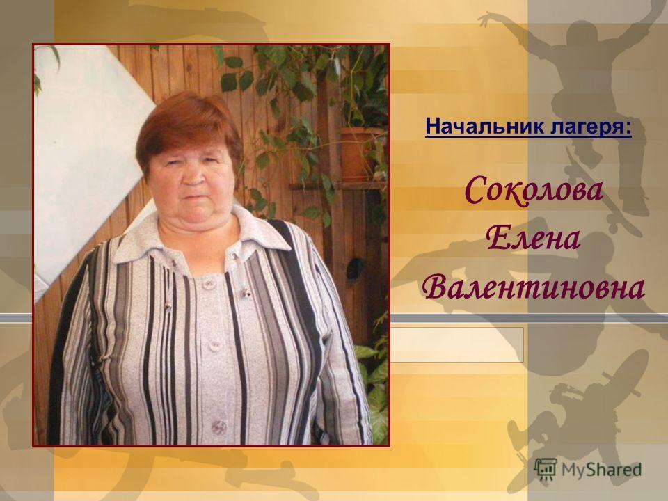 Начальник лагеря: Соколова Елена Валентиновна