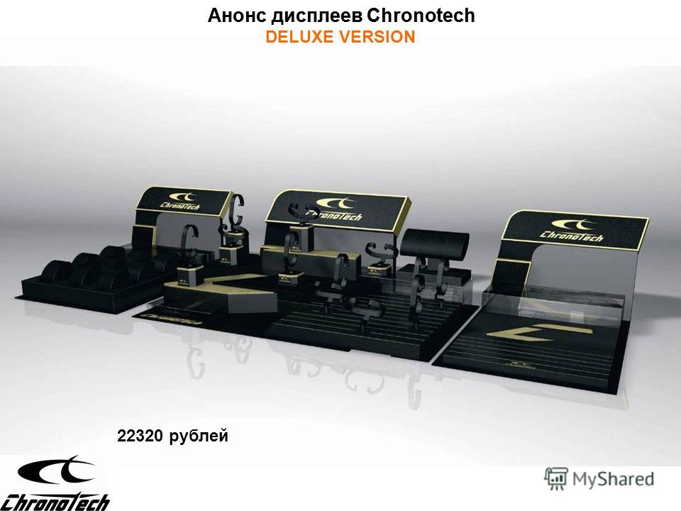 Анонс дисплеев Chronotech DELUXE VERSION 22320 рублей