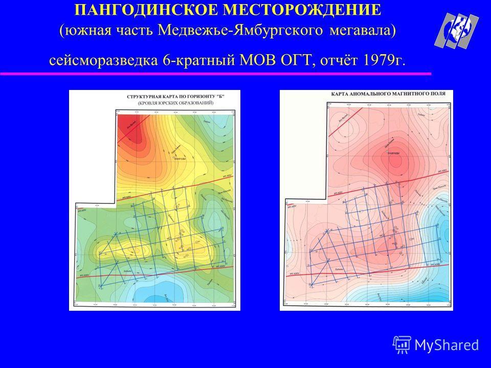 ПАНГОДИНСКОЕ МЕСТОРОЖДЕНИЕ (южная часть Медвежье-Ямбургского мегавала) сейсморазведка 6-кратный МОВ ОГТ, отчёт 1979г.