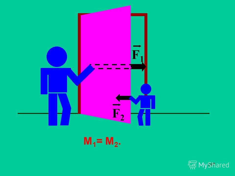 197 F1F1 F2F2 М 1 = М 2.