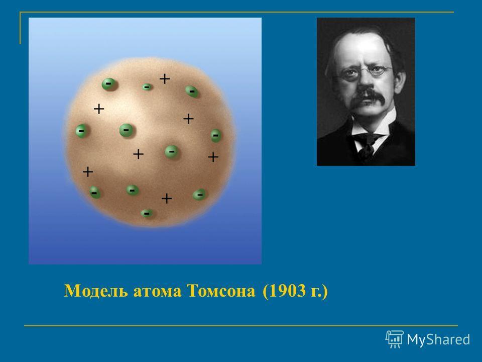 Модель атома Томсона (1903 г.)