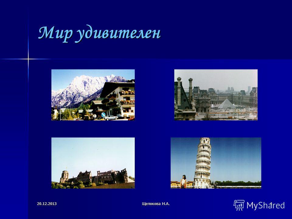 20.12.2013Щелокова Н.А.4 Мир удивителен