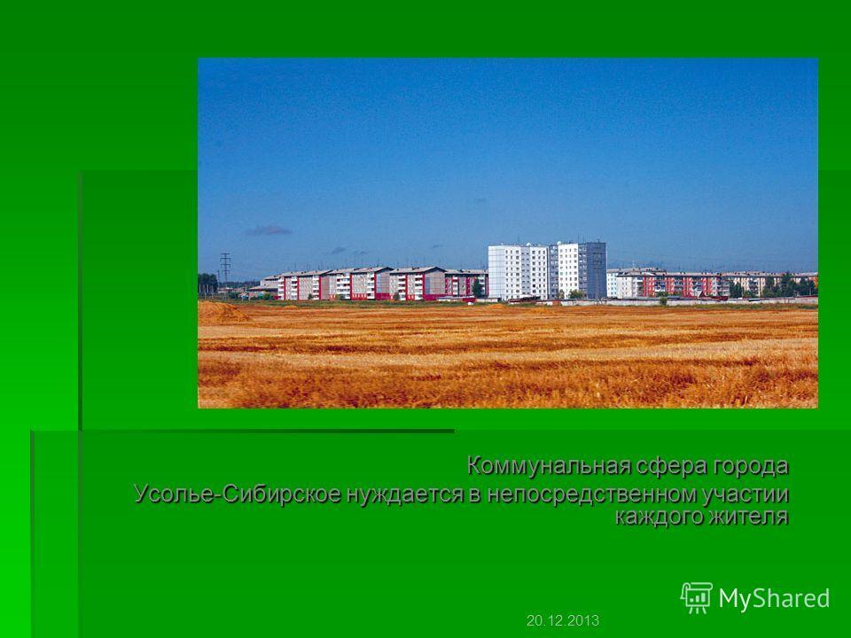 Коммунальная сфера города Усолье-Сибирское нуждается в непосредственном участии каждого жителя 20.12.2013