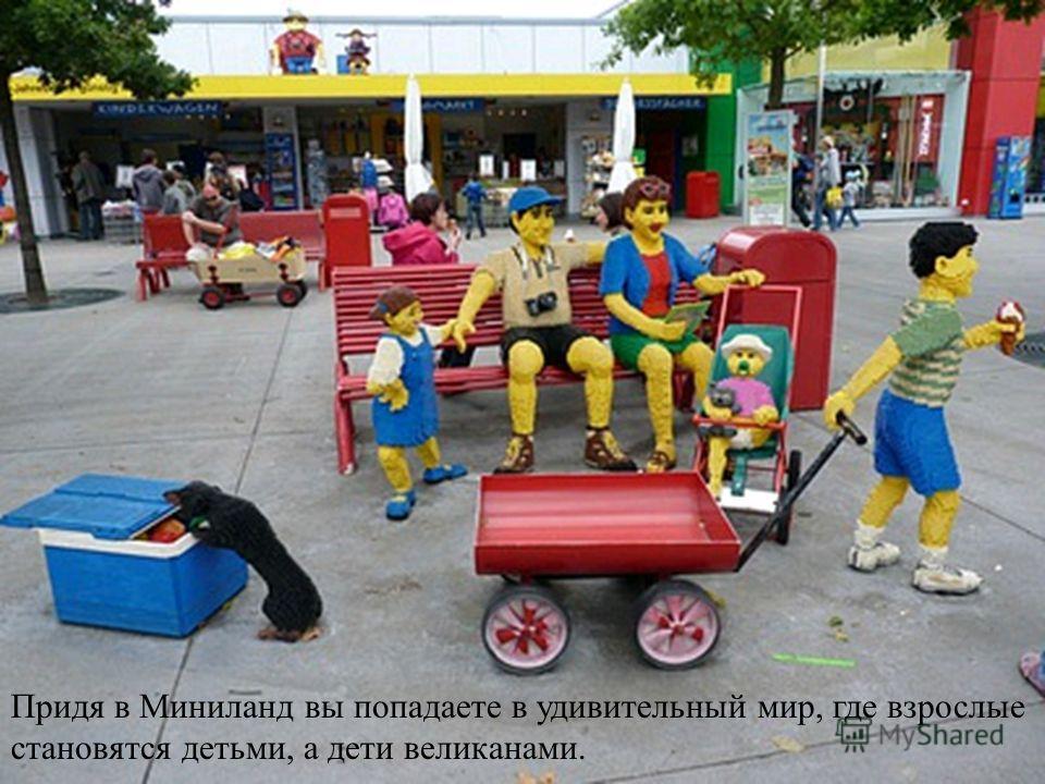 Придя в Миниланд вы попадаете в удивительный мир, где взрослые становятся детьми, а дети великанами.